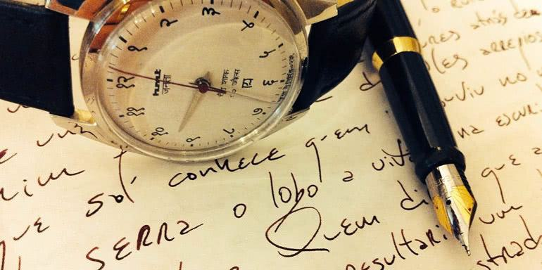 Writing - watch and fountain pen